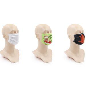 Ansigtsmaske med tryk