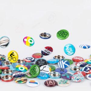badges med tryk